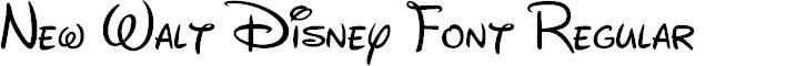 Preview image for New Walt Disney Font Regular