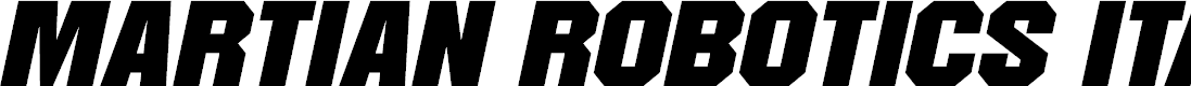 Preview image for Martian Robotics Italic
