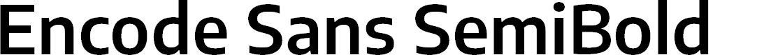 Preview image for Encode Sans SemiBold