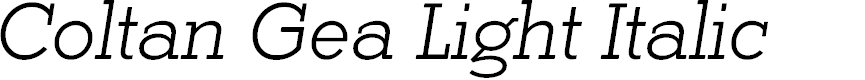 Preview image for Coltan Gea Light Italic
