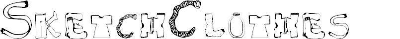 Preview image for SketchClothes Font