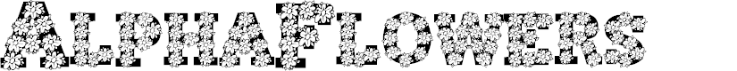 Preview image for AlphaFlowers Font