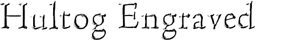 Preview image for Hultog Engraved Font