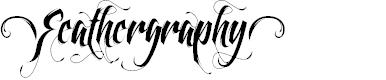 Preview image for Feathergraphy Decoration Font