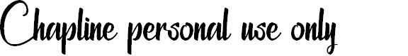Preview image for Chapline personal use only Font