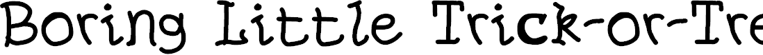 Preview image for Boring Little Trick-or-Treaters Font