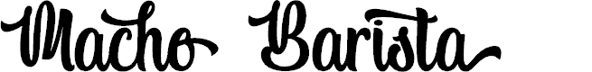 Preview image for Macho Barista - Personal Use Font