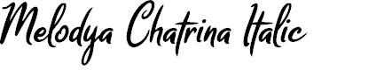 Preview image for Melodya Chatrina Italic