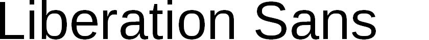 Preview image for Liberation Sans Font