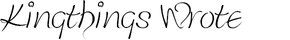 Preview image for Kingthings Wrote Font