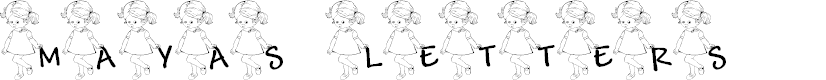 Preview image for LCR Maya's Letters Font