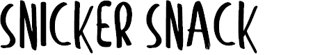 Preview image for Snicker Snack Font