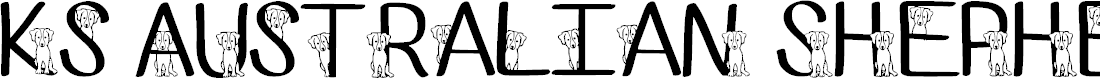 Preview image for Ks Australian Shepherd Regular Font
