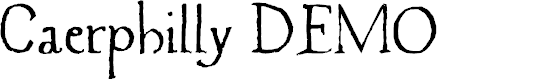 Preview image for Caerphilly DEMO Regular Font