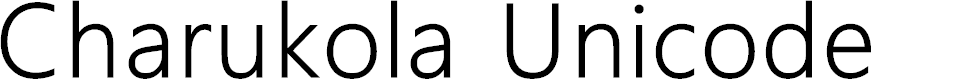 Preview image for Charukola Unicode Font
