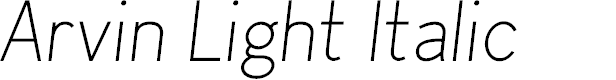 Preview image for Arvin Light Italic