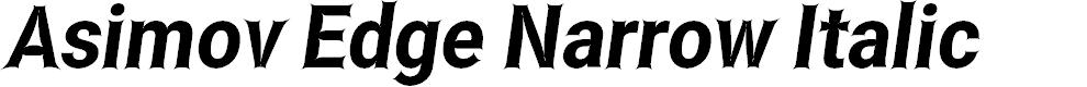 Preview image for Asimov Edge Narrow Italic