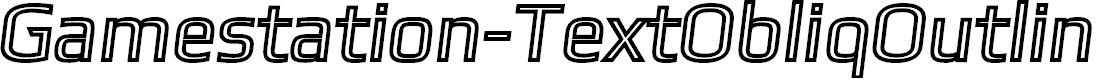 Preview image for Gamestation-TextObliqOutline