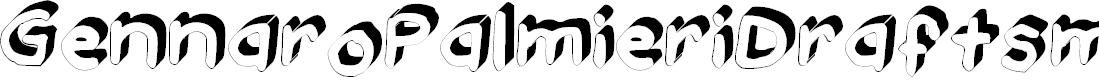Preview image for GennaroPalmieriDraftsman_3D Medium Font