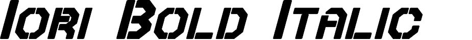 Preview image for Iori Bold Italic