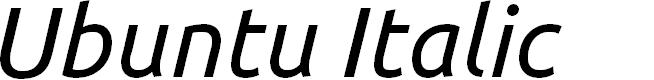 Preview image for Ubuntu Italic