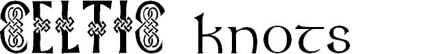 Preview image for Celtic Knots Font