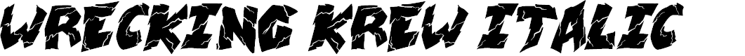 Preview image for wrecking krew Italic