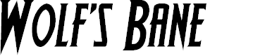 Preview image for Wolf's Bane Semi-Italic