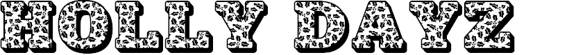 Preview image for JFHollyDayz Font