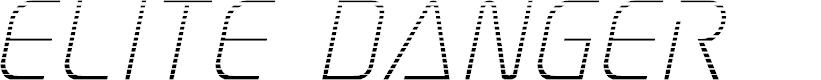 Preview image for Elite Danger Gradient Italic