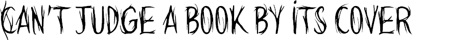 Preview image for Can't judge a book by its cover Font