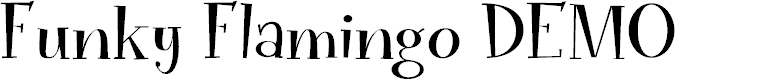 Preview image for Funky Flamingo DEMO Regular Font