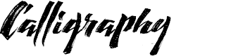 Preview image for Calligraphy Font