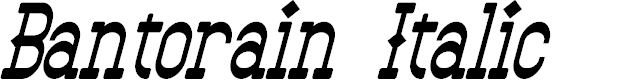 Preview image for Bantorain Italic