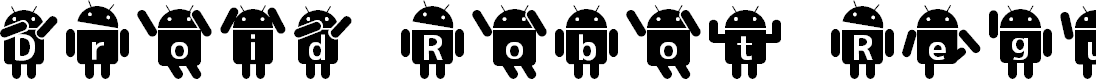 Preview image for Droid Robot Regular Font