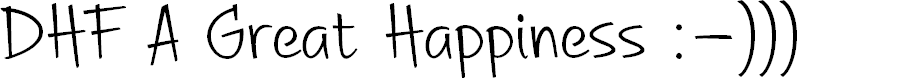 Preview image for DHF A Great Happiness Font