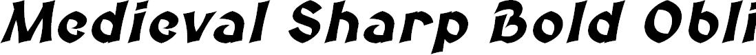 Preview image for Medieval Sharp Bold Oblique