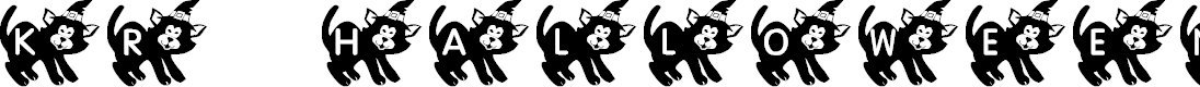 Preview image for KR Halloween Kitten Font