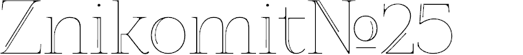 Preview image for ZnikomitNo25 Font