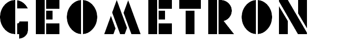 Preview image for Geometron Font
