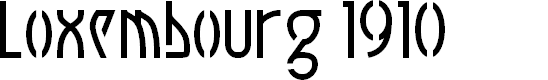 Preview image for Luxembourg 1910 Font