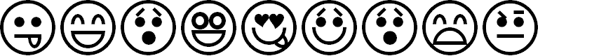 Preview image for Emoticons Font