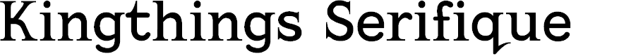 Preview image for Kingthings Serifique Font