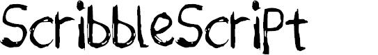 Preview image for ScribbleScript Font