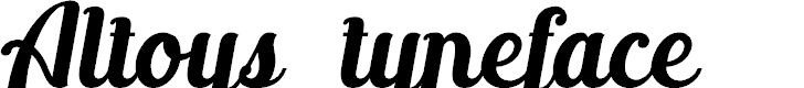 Preview image for Altoysjustpersonalonly-Italic Font