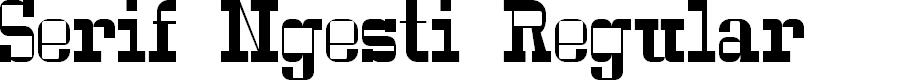 Preview image for Serif Ngesti Regular Font
