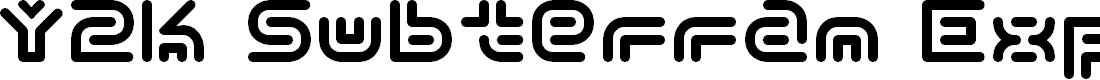 Preview image for Y2k Subterran Express KG Font