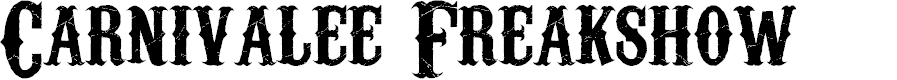 Preview image for Carnivalee Freakshow Font