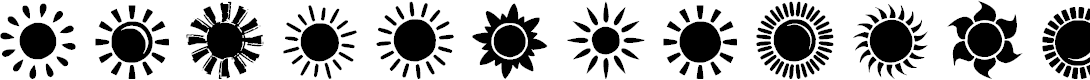 Preview image for Suns and Stars Font