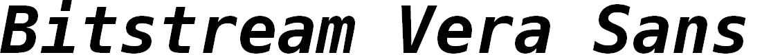 Preview image for Bitstream Vera Sans Mono Bold Oblique
